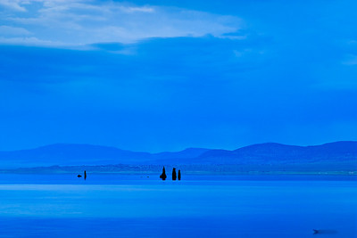Blue Morning -  Tufa Pillars - 6:00 AM