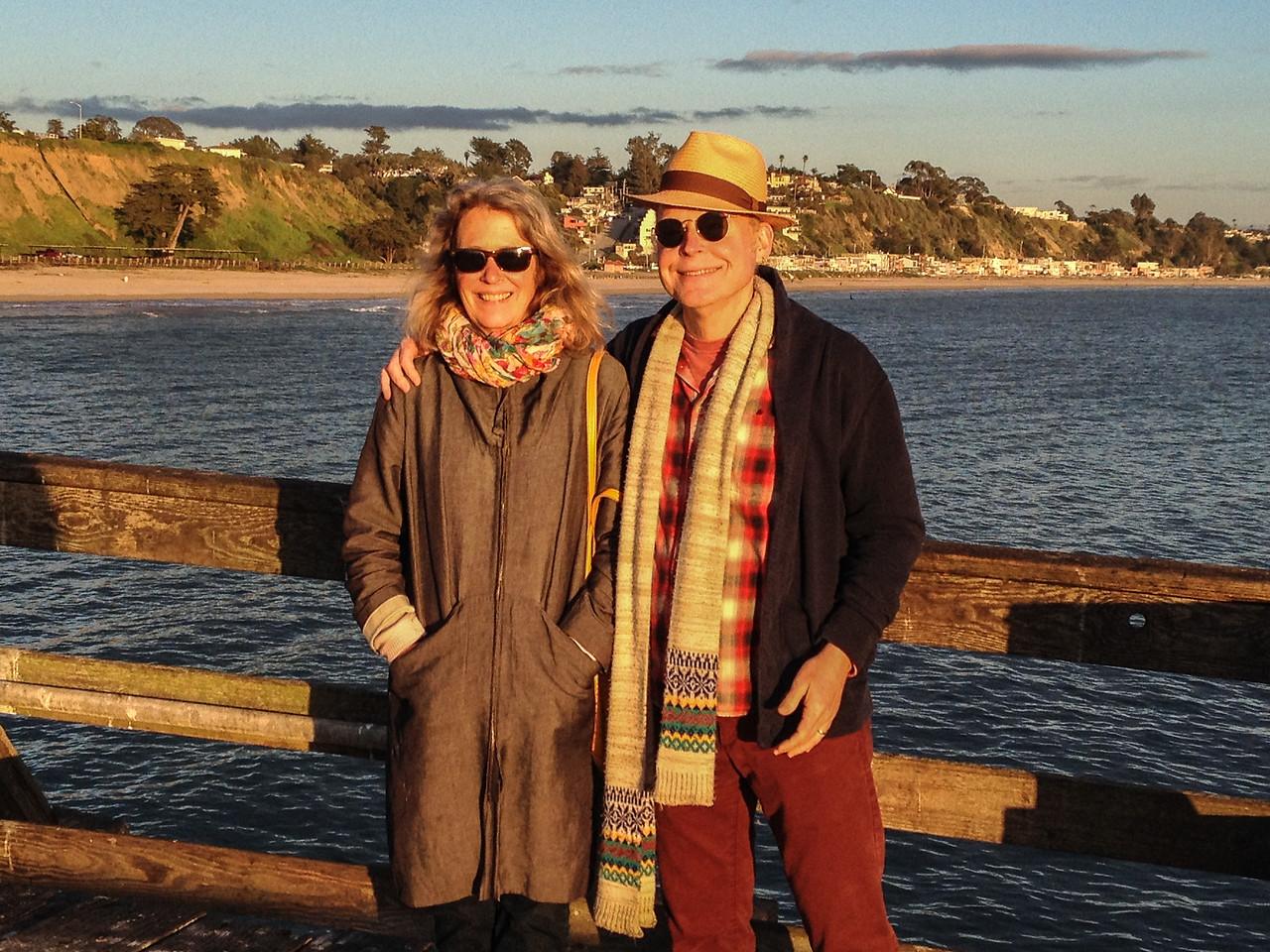 Anne & Brian on the Wharf