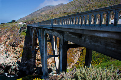 Granite Canyon Bridge built in 1932, Highway 1, CA, USA