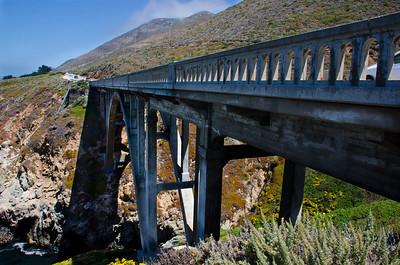 Granite Canyon Bridge built in 1932, Highway 1, CA, USA