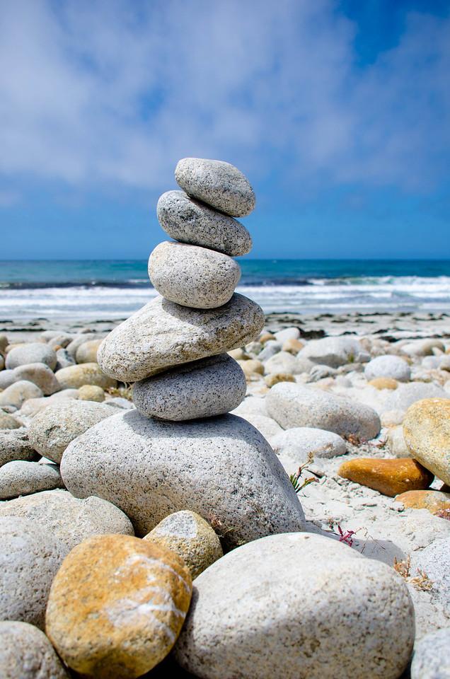 Rock Pile at Spanish Bay, Monterey, CA, USA
