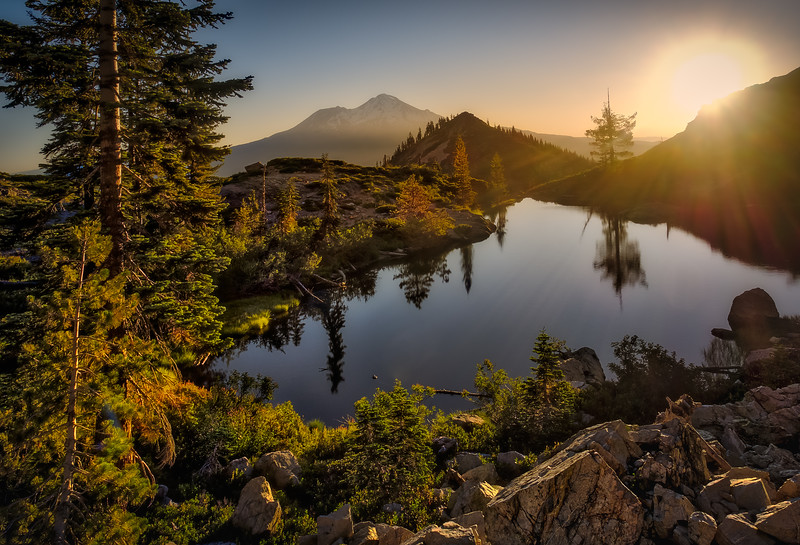 Mt. Shasta From Heart Lake