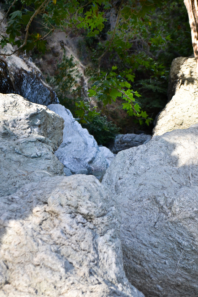 Peering over the boulders at Little Yosemite.