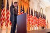 I have had the privilege of serving as Master of Ceremonies in the East Room numerous times.