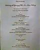 The Program schedule