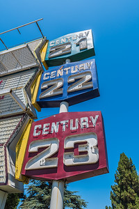Built in 1964, and closed nearly 50 years later in 2014, the Century 21 theater was granted historic status by the San Jose City Council.  Of the three dome-style theaters, the Century 21 is the oldest and the most intact.  The San Jose Century 21 was opened with the intention of using the 3-strip Cinerama process; but it actually only showed 70mm. The screen was later replaced with a flat model, but has remained intact as a wonderful throwback to the domed Cinerama palaces of the 1960's.
