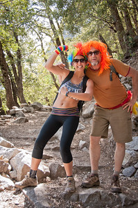 About twenty crazily dressed hikers made their way to Upper Yosemite Falls to celebrate the birthday of a friend...what a great memory that will be!