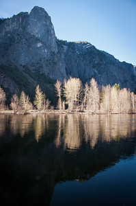 Glistening reflections along the Merced River