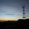 Sutro Tower at Sunset from Twin Peaks