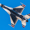 The Thunderbirds have the privilege and responsibility to perform for people all around the world, displaying the pride, precision and professionalism of American Airmen. In every hour-long demonstration, the team combines years of training and experience with an attitude of excellence to showcase what the Air Force is all about. As the jets take to the skies and fly only a few feet from wingtip to wingtip, the crowd gets a glimpse of the awesome skills and capabilities that all fighter pilots must possess. The solo pilots integrate their own loud and proud routine, exhibiting some of the maximum capabilities of the F-16 Fighting Falcon – the Air Force's premier multi-role fighter jet.