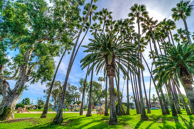 Lake Park is the first park acquired in Huntington Beach and has served the community since 1912.  This five-acre parcel was purchased for $10 in gold from the Huntington Beach Company and was named based on the small fly-fishing lake that was on the land.  In 1924, the City funded the construction of a log cabin that was built by the local Boy Scout Troup 1.  In 1938 the recreation building, known as the Lake Park Clubhouse was opened and is still used today.  In 1968, the park was redesigned, the lake filled with sand, and the playground equipment added.