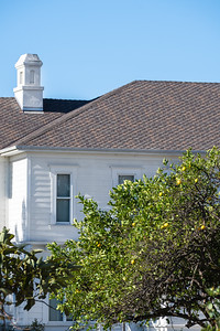 The Katie Wheeler Branch Library is on the original location of the Irvine residence. Originally constructed by C.E. French in 1876, James Irvine II nearly doubled its size in 1892. Following the 1906 San Francisco earthquake, Irvine moved his wife and three children permanently to the ranch. A fire damaged the home in 1965, and it was demolished in 1968. The library was carefully designed to replicate the historic residence.