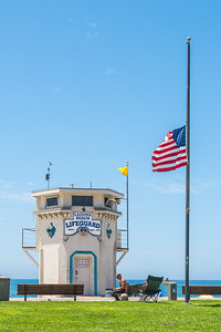 What is recognized today as the Laguna Beach Lifeguard Tower was originally built in 1926 and used to be on the opposite side of Pacific Coast Highway and was an office for a gas station company. When that company closed its office in the mid-1930's, it was decided to move the tower across to Main Beach and use it as a lifeguard tower.