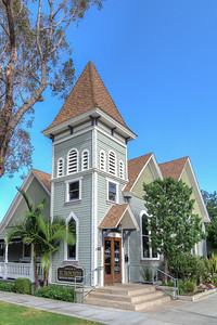 Surprisingly, the below building is restaurant, and recently changed hands and now serves Mexican food.  This building is a finely restored 1891 Baptist Church with the massive original stained-glass windows and polished wood floors along with a beautiful patio that offers views of the surrounding Victorian neighborhood lined with trees.