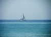 The only sailboat on the horizon