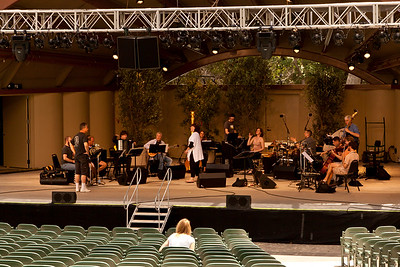 First rehearsal in new Libbey Bowl with soprano Dawn Upshaw and eighth blackbird orchestra