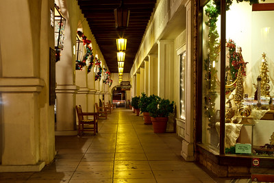 Arcade during the holidays