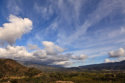 Ojai Valley East End from Shelf Road