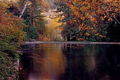 Reflection pond, Thomas Aquinas College, Ventura County, California