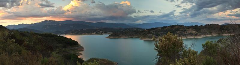 Panorama of Lake Casitas