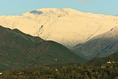 Snow-covered mountians