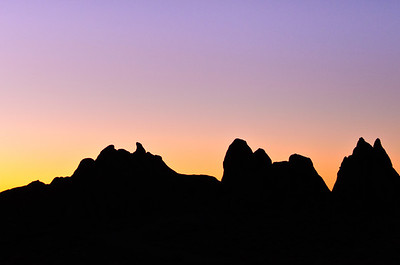 Dawn at Alabama Hills, California.