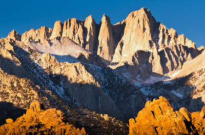 Sunrise on Mount Whitney - the highest summit in the continental United States.