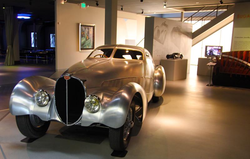 Oxnard California, Mullin Automotive Museum, Silver Bugatti Classic