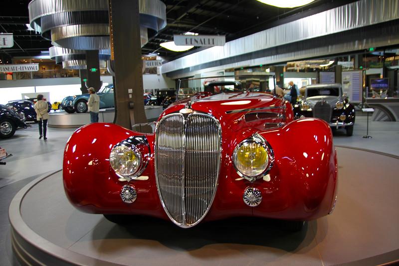 Oxnard California, Mullin Automotive Museum, Red Bugatti