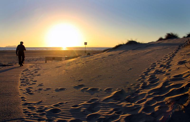 Oxnard California,  Mandalay Beach at Sunset
