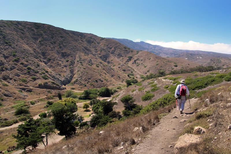 Santa Cruz Island, Channel Islands, View from Cavern Loop Trail