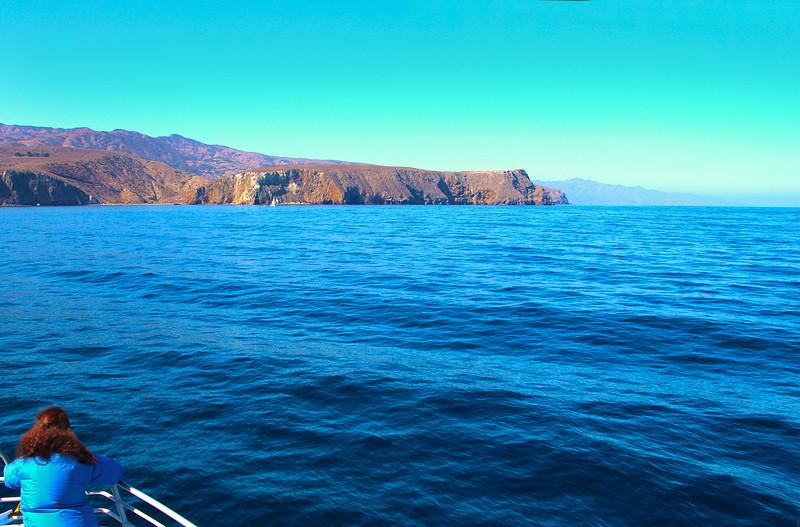Santa Cruz Island, Channel Islands, Island Excursions Approaching Scorpion Anchorage