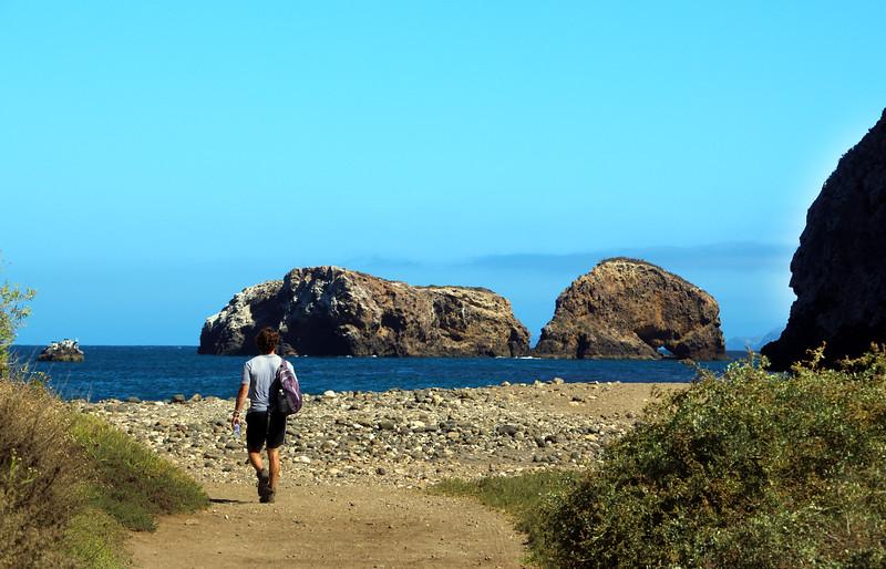 Santa Cruz Island, Channel Islands, Rocky Path, Scorpion Anchorage
