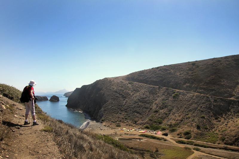 Santa Cruz Island, Channel Islands,  View from Cavern Point Loop Trail