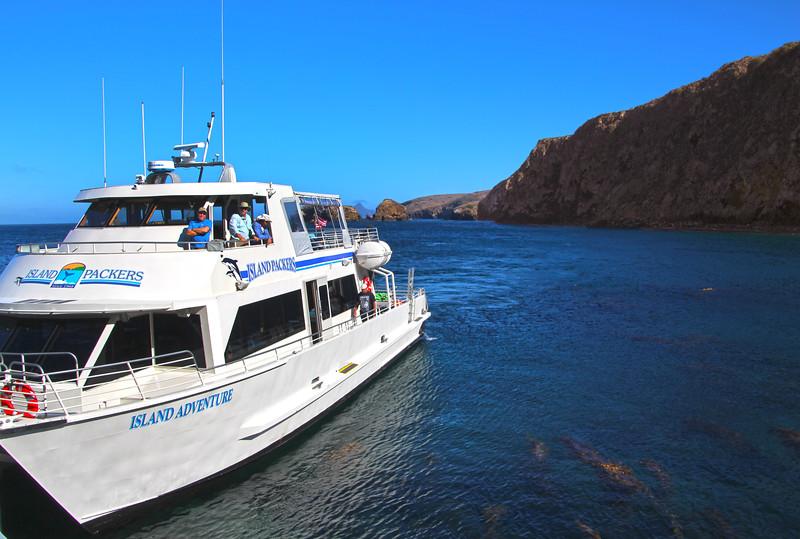 Santa Cruz Island, Channel Islands, Island Adventure Preparing to Return Passengers to Mainland