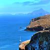 Santa Cruz Island, Channel Islands, View East Onto Anacapa Island from Smugglers Road