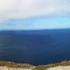 Santa Cruz Island, Channel Islands,  Panorama, Hikers, View West from Cavern Point Trail