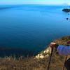 Santa Cruz Island, Channel Islands, Hiker Along Cavern Point Loop Trail