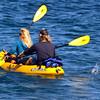 Santa Cruz Island, Channel Islands,  Kayaker Couple