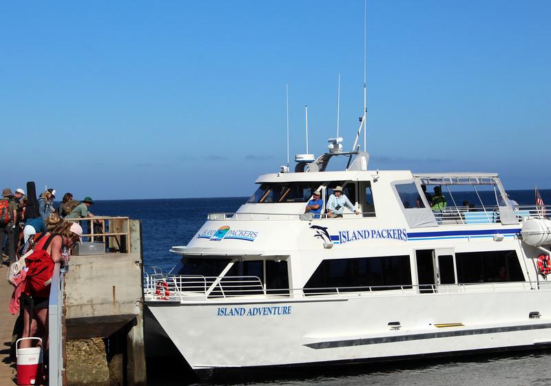 Santa Cruz Island, Channel Islands, Island Adventure Preparing for Departure