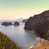 Santa Cruz Island, Channel Islands, Scorpion Anchorage from the Cavern Point Loop Trail