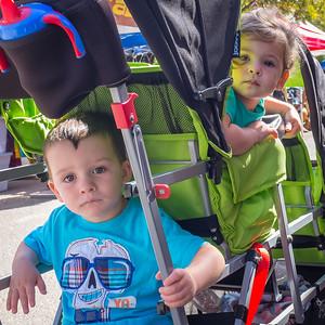 Three seat stroller