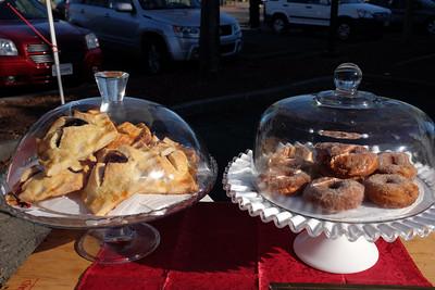 Hand pies, egg nog donuts
