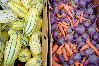 Squash, beets, carrots  Petaluma Eastside Farmer's Market, Petaluma, CA