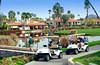 Golfers at the Rancho Las Palmas Marriott Resort in Palm Desert, California, USA.