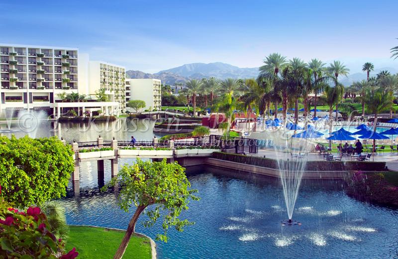 Desert Springs Marriott Resort in Palm Desert, California, USA.
