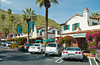 Palm Canyon Dr. shopping area downtown, Palm Springs, California, USA.