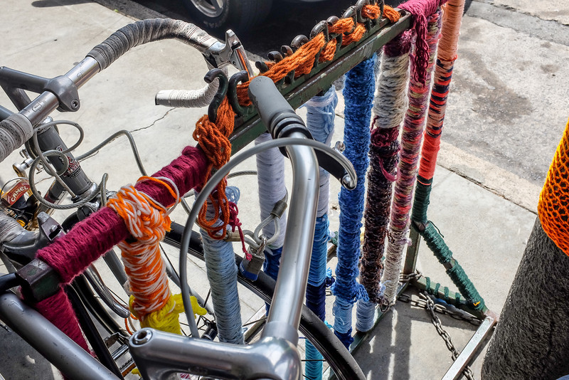 """Knit"" bike rack"