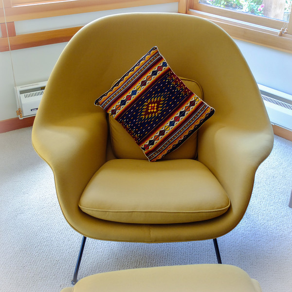 Womb chair and Oaxacan pillow