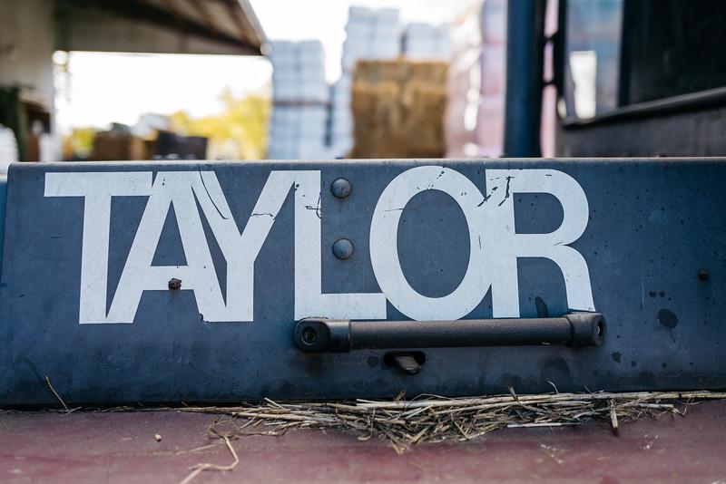 Taylor forklift detail.  Bar Ale, Petaluma, Ca.